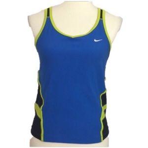 Nike Dri-Fit Blue Black Activewear Tank Medium